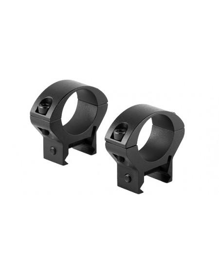 Крепление ВОМЗ Кольца стальные 25,4 мм низкие Weaver/ ВОМЗ (тип 2)
